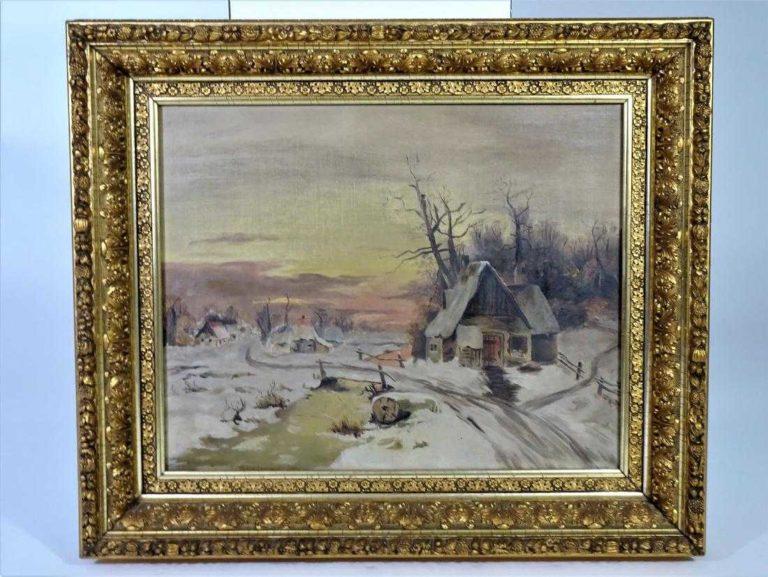 Antique 19th C. Luminist Landscape, Oil on Canvas
