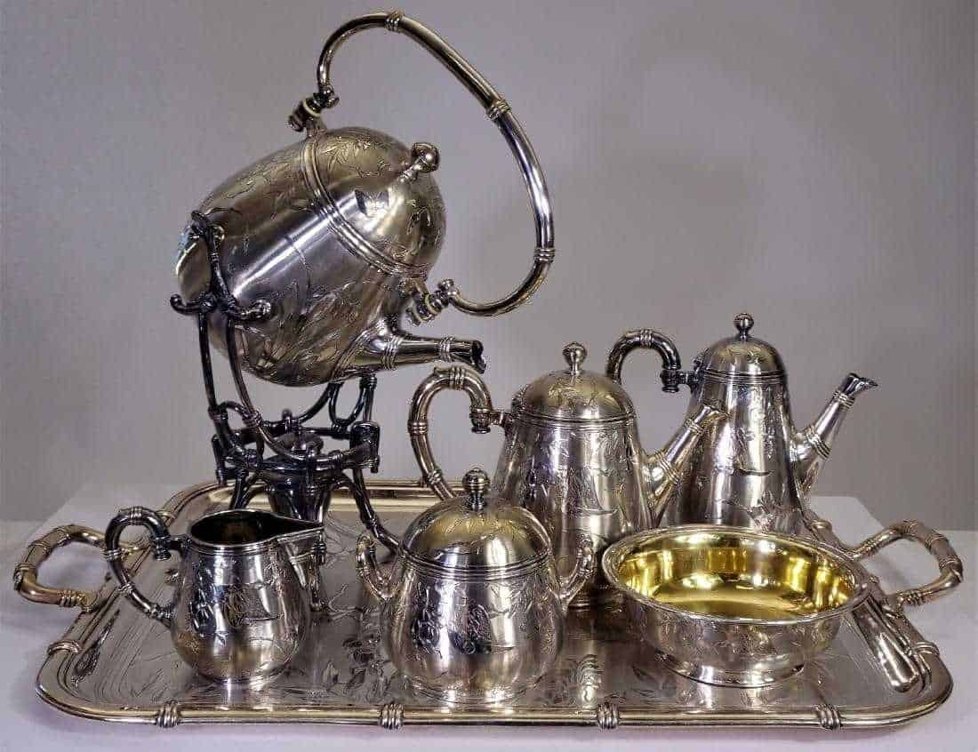 RARE 1800s French Christofle Silver Tea Set