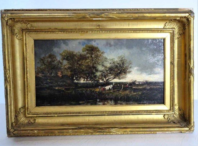 Leon-Victor Dupre (1816 – 1879) Oil / Board