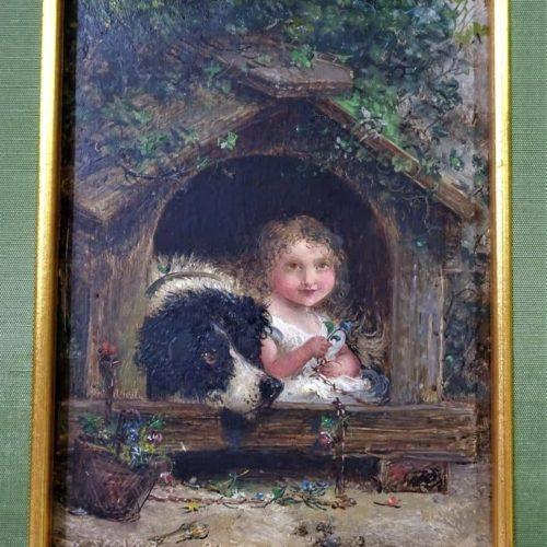 "Joseph Henry Sharp (1859 – 1953) ""The Dog House"""