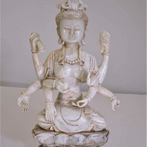White Jade Many Hands Guanyin