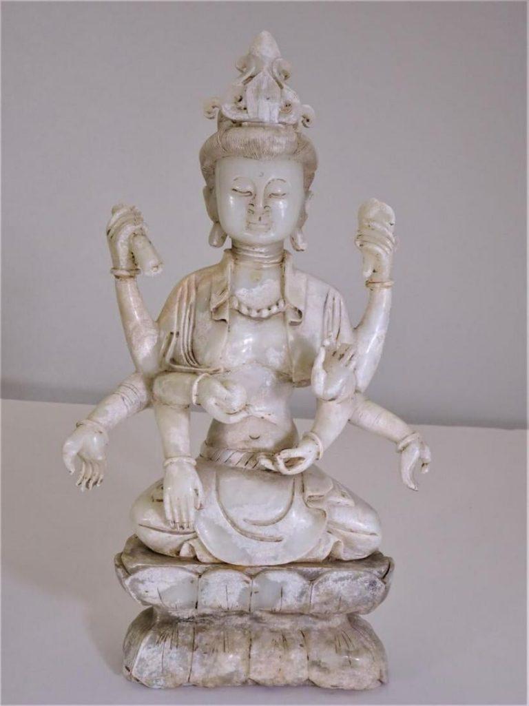 White Jade Many Hands Guanyin