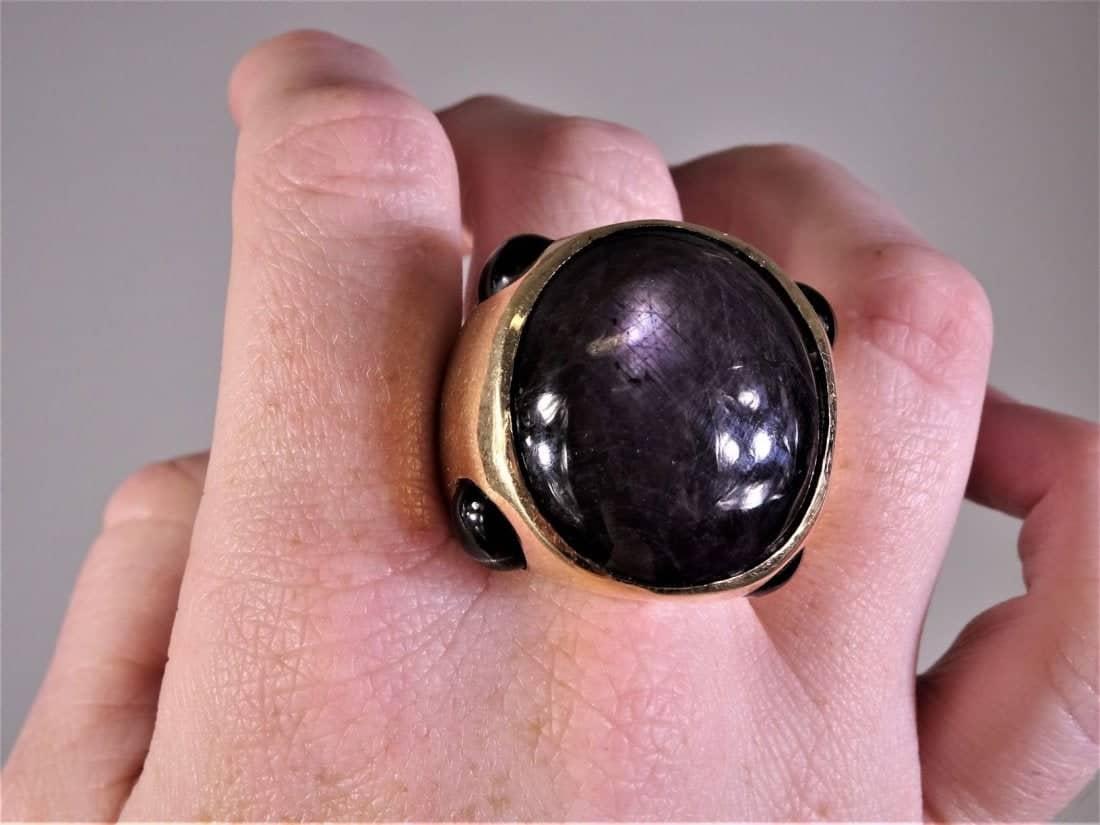 Rare 14k Star Ruby Ring