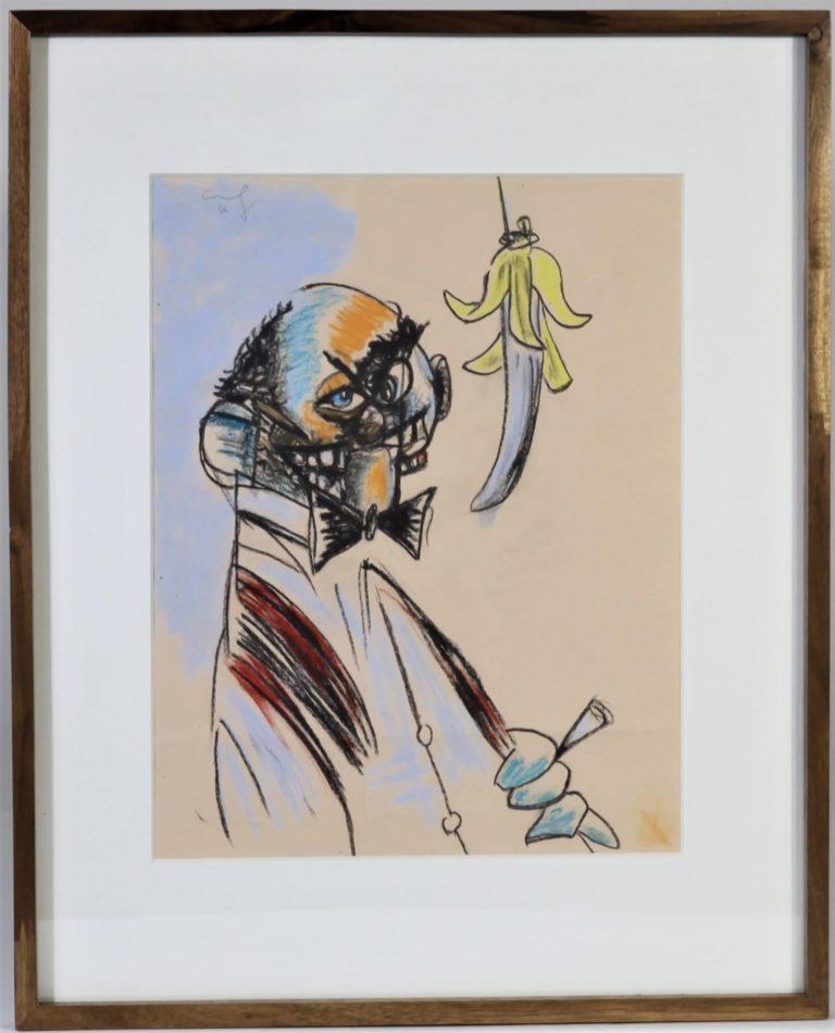 George Condo (B. 1957 – ) Pastel on Paper 2012