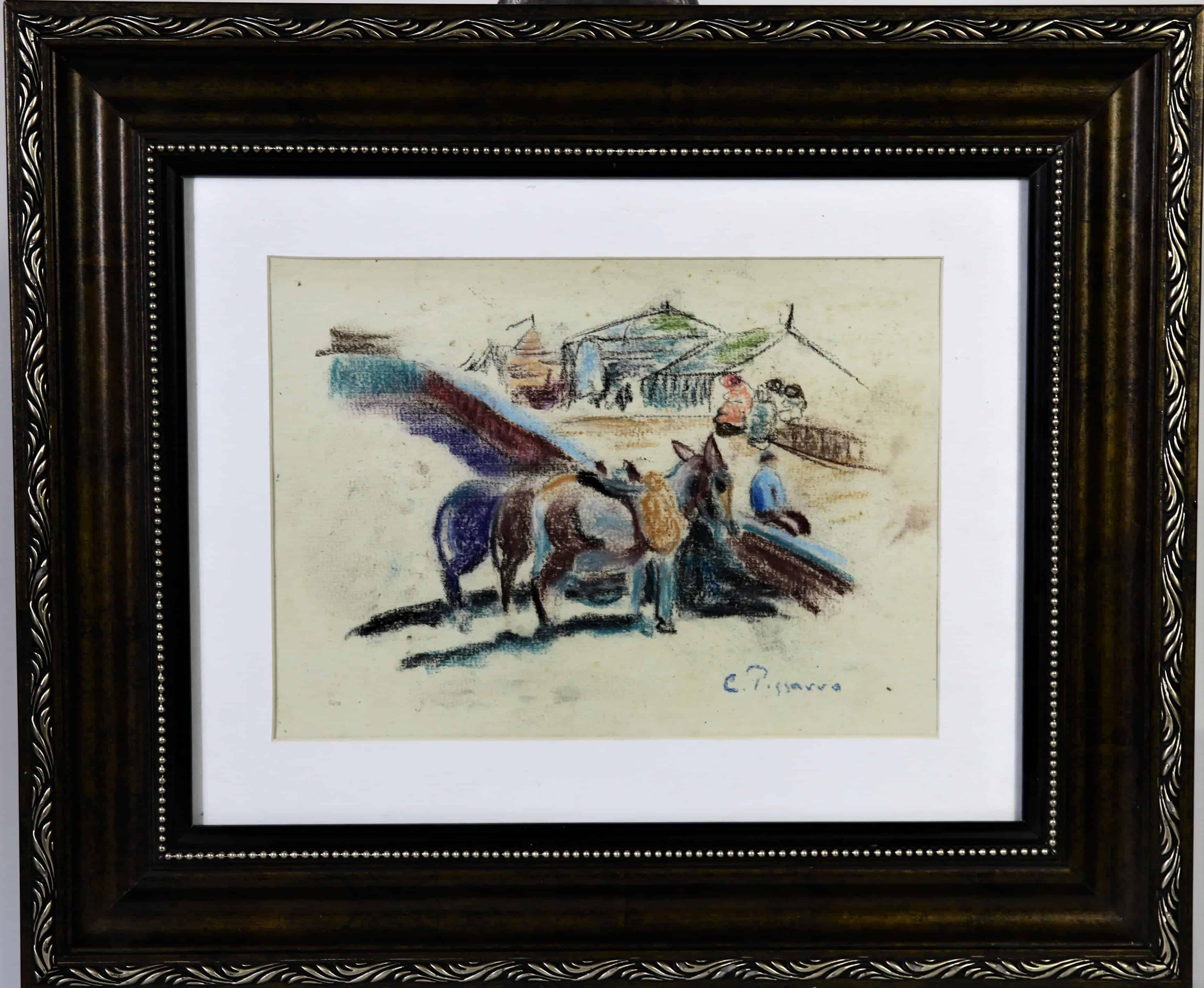 Camille Pissarro (French – Dutch 1830-1903) Pastel
