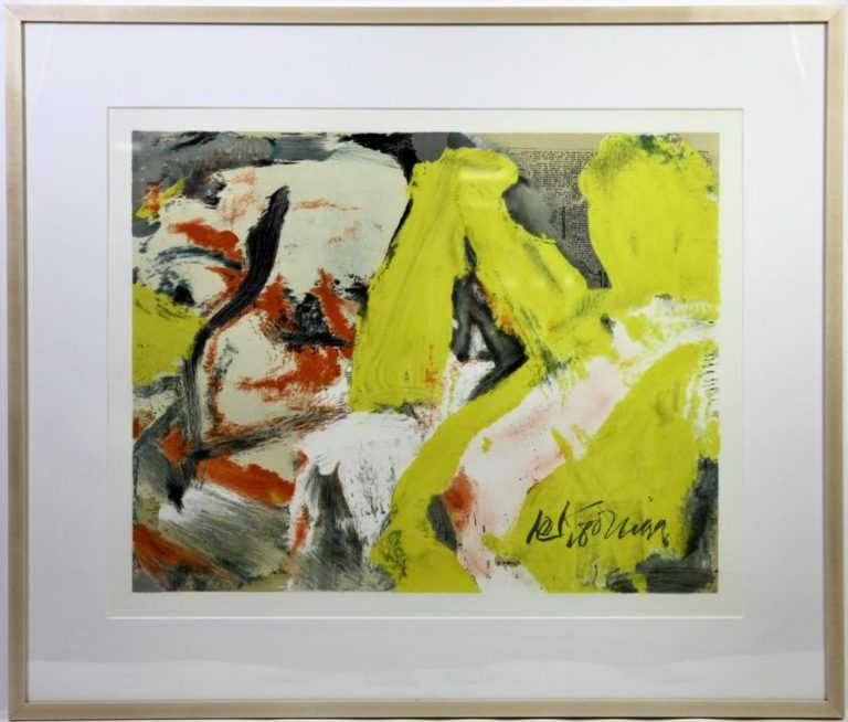 """Willem de Kooning """"The Man and the Big Blonde"""""""