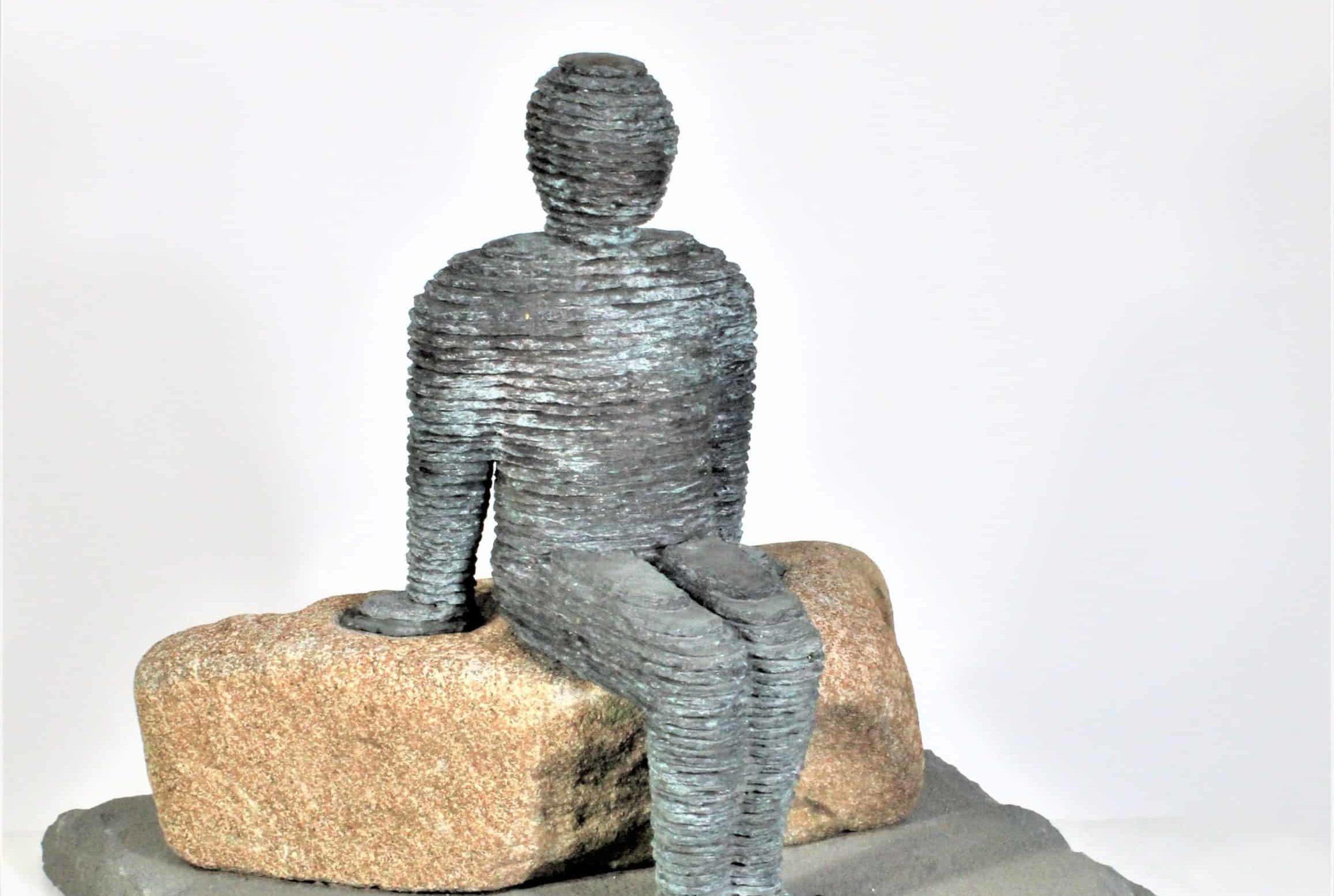 Boaz Vaadia (1951-) Layered Bluestone Sculpture