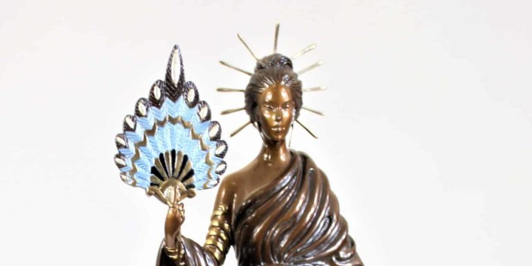 "Erte (1892-1990) Bronze Sculpture, ""Aphrodite"""