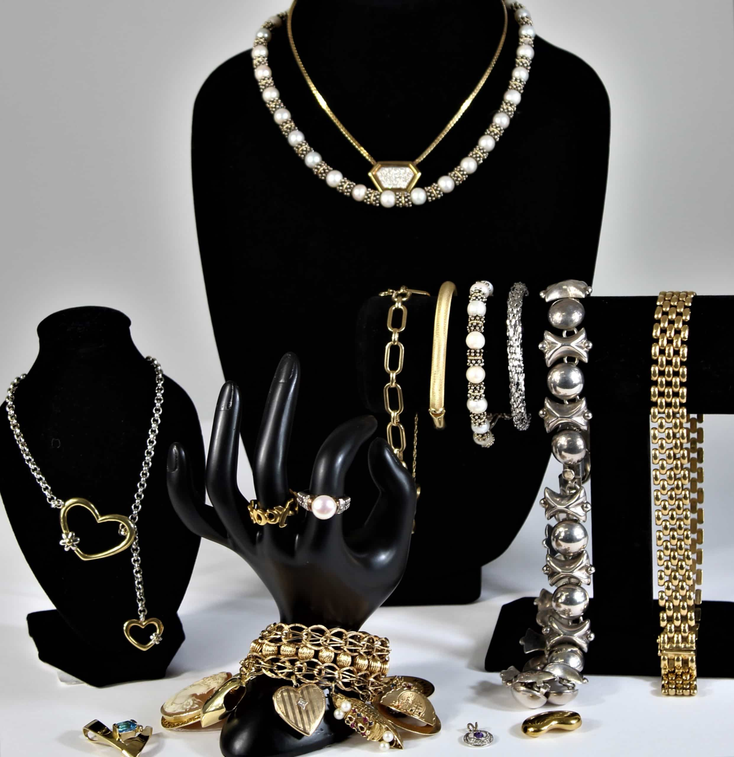 Assortment of Gold and Silver Jewelry