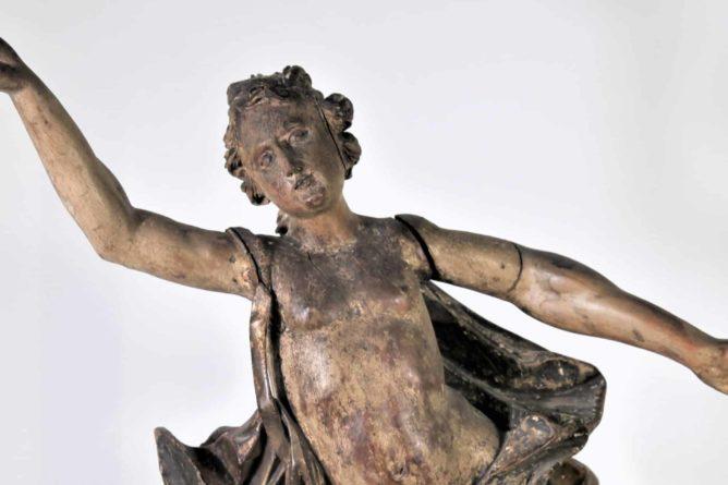 17th C. Italian Carved Angel