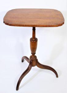Tigerwood Three-Legged Side Table