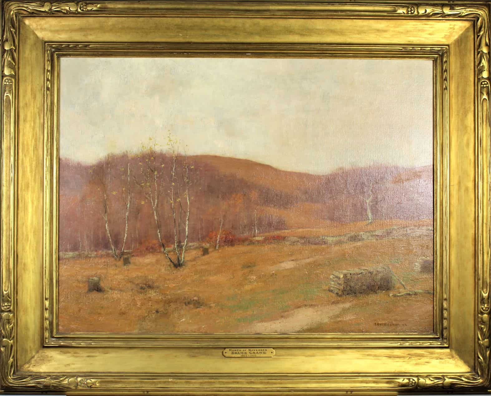 Bruce Crane (American 1857-1937) Month of November