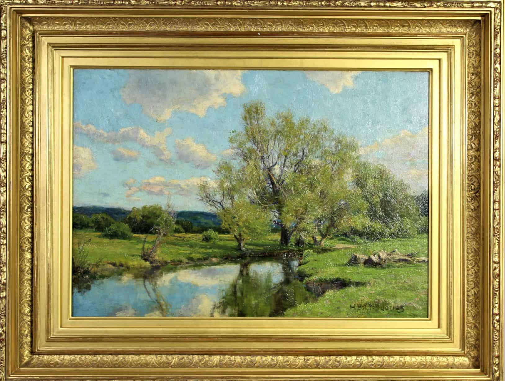 Hugh Bolton Jones (1848-1927) Oil on Canvas