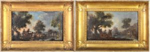 Pair of 18th Century European Landscapes Oil on Canvas