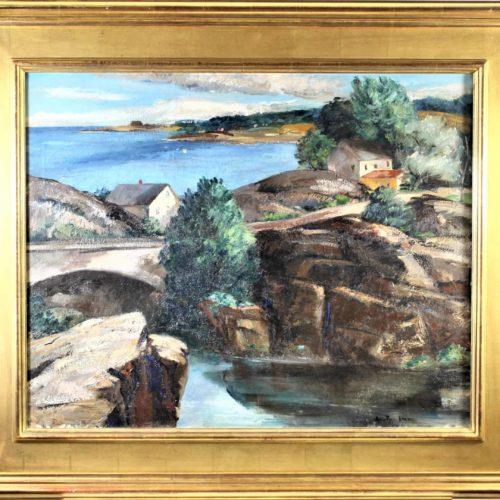 Ann Brockman 1899-1943 Maine Landscape Oil on Canvas