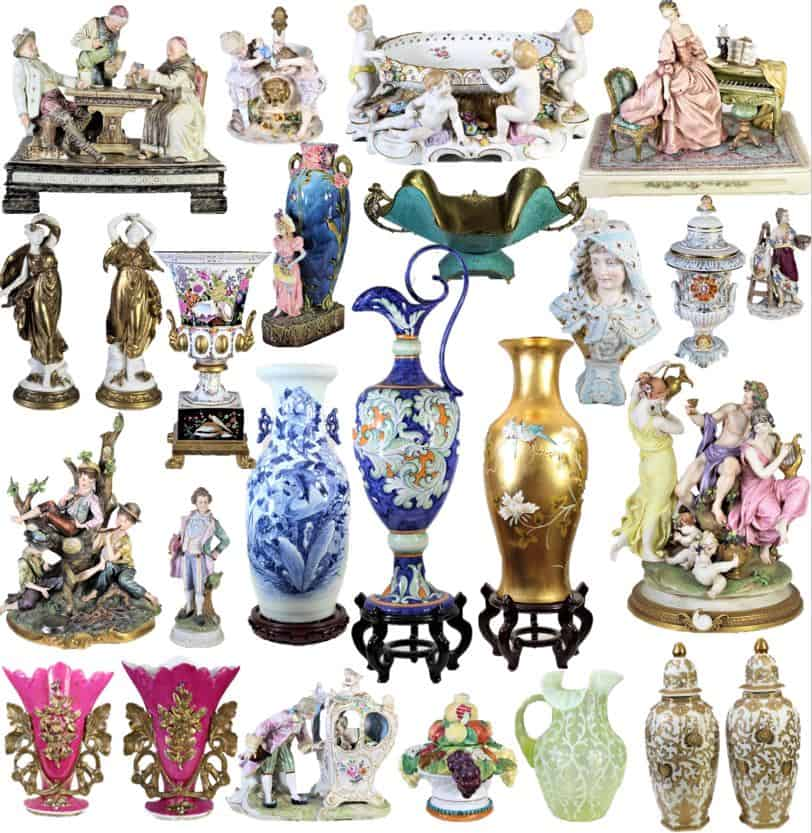 Collection of European Porcelain and Glassware