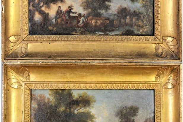Pair-of-18th-Century-European-Landscapes-Oil-on-Canvas.