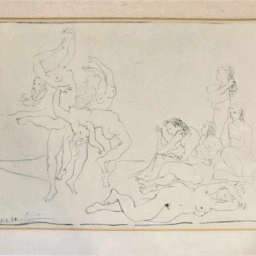 Picasso Signed Stone Lithograph