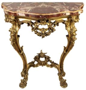 Serpentine-Marble-Top-Gilded-Carved-Console-Table