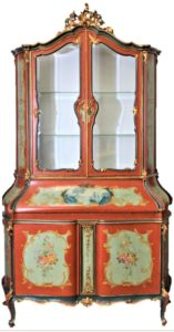 Venetian-Style-Hand-Painted-Gilded-Crest-Secretary