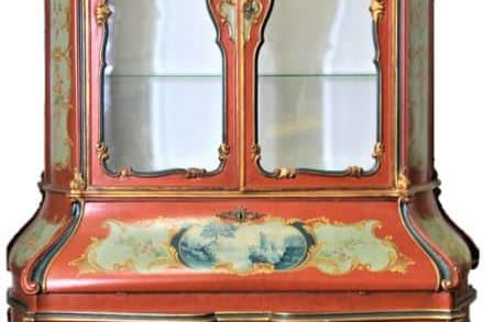 Venetian-Style-Hand-Painted-Gilded-Crest-Secretary