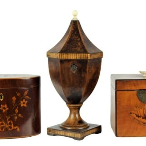 Collection of Period Tea Caddies