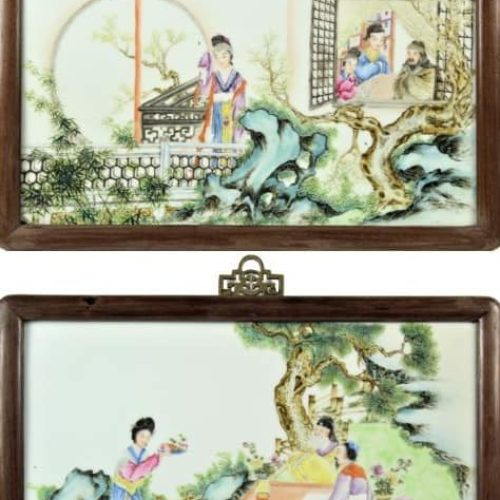 Important Qing Dynasty Chinese Enameled Plaque