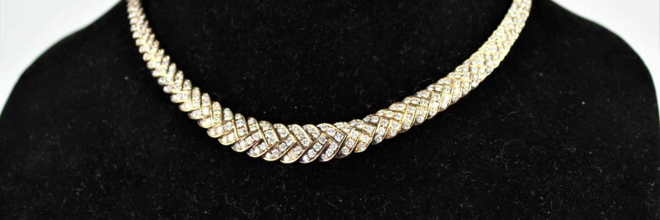 Italian 18 Carat Gold and Diamond Necklace