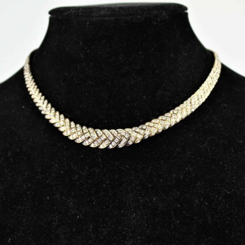 Italian 18K Gold, Diamond Bracelet and Necklace