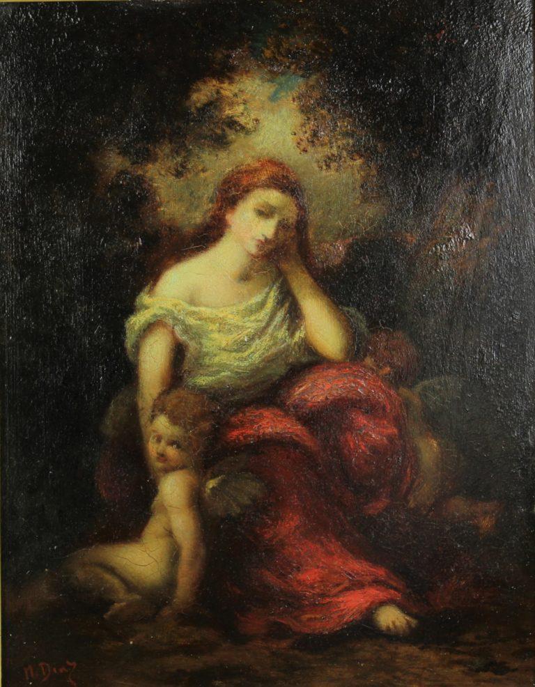 Narcisse-Virgil Diaz (1808-1876) French, O/Panel