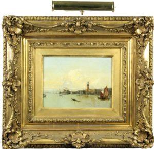 19th C. Venetian Painting, Oil on Panel