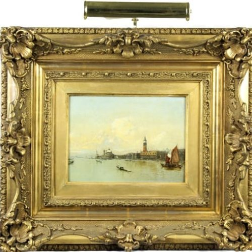 19th C. Venetian Painting, Oil on Panel