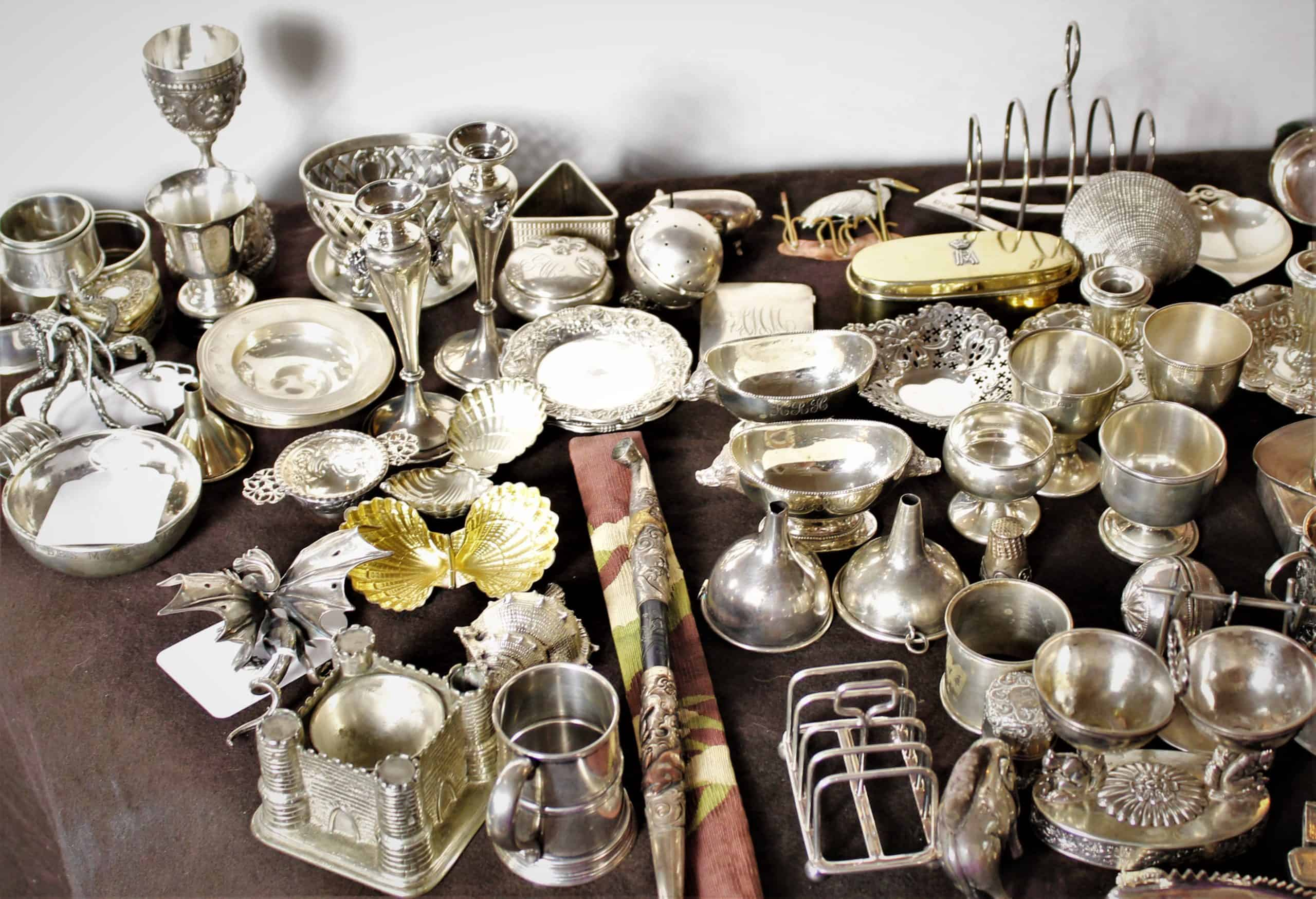 A 70 Year Collection of 19th and 20th C. Sterling Silver Miniatures