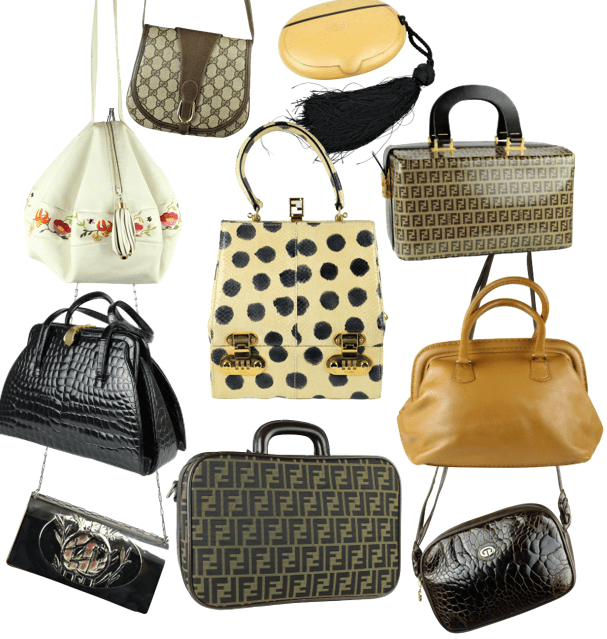 Collection of Vintage Gucci & Fendi Bags from the Estate of Francesco Gittardi