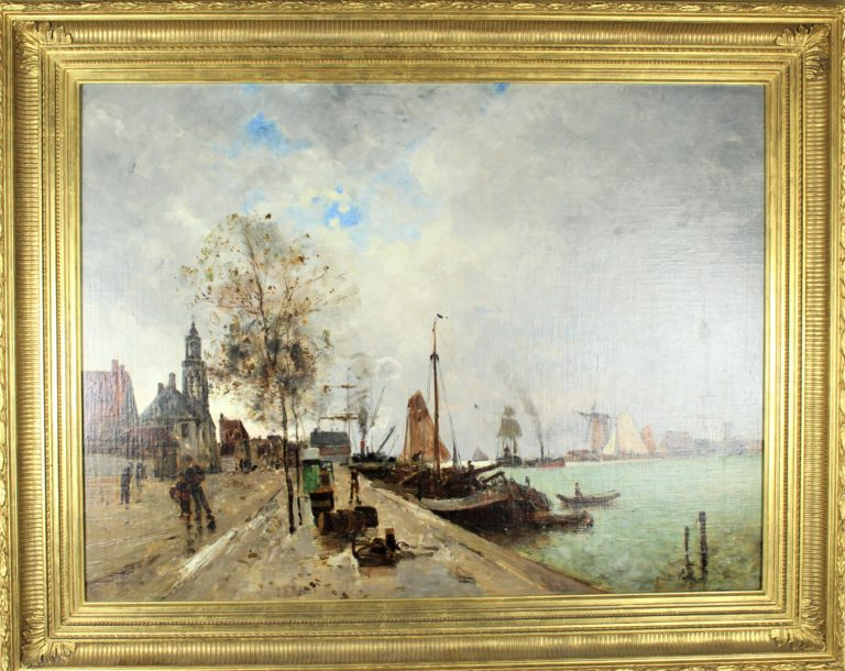 Oil on Canvas in the Manner of Eugene Louis Boudin (1824 – 1898)