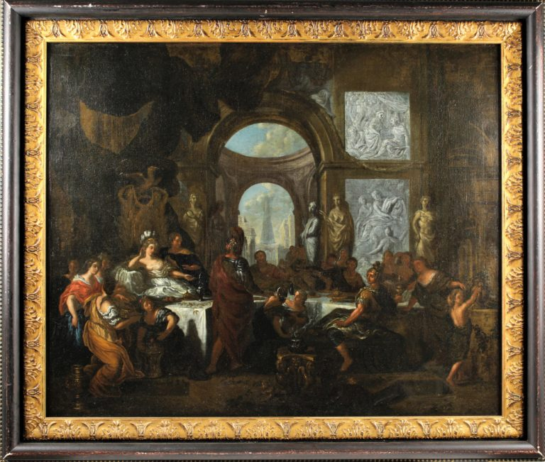 Ottmar Elliger, the younger (1633-1679) The Banquet of Cleopatra