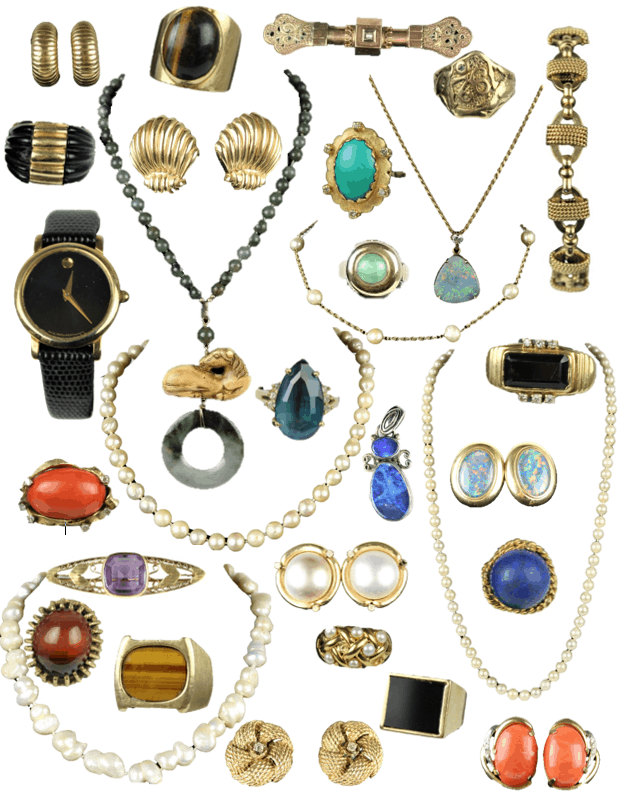 Over 100 Plus Lots of 18K and 14K Jewelry including Tiffany and Co.