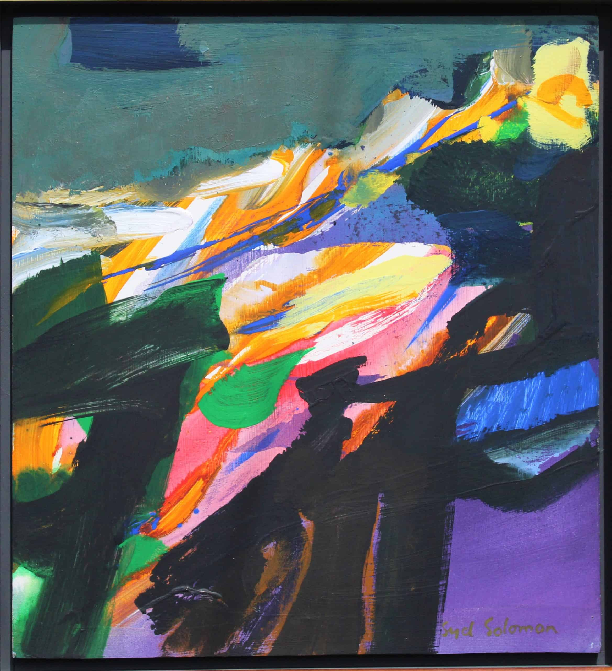 Syd Solomon (1917 – 2004) 'Airise' Oil On Mounted Panel