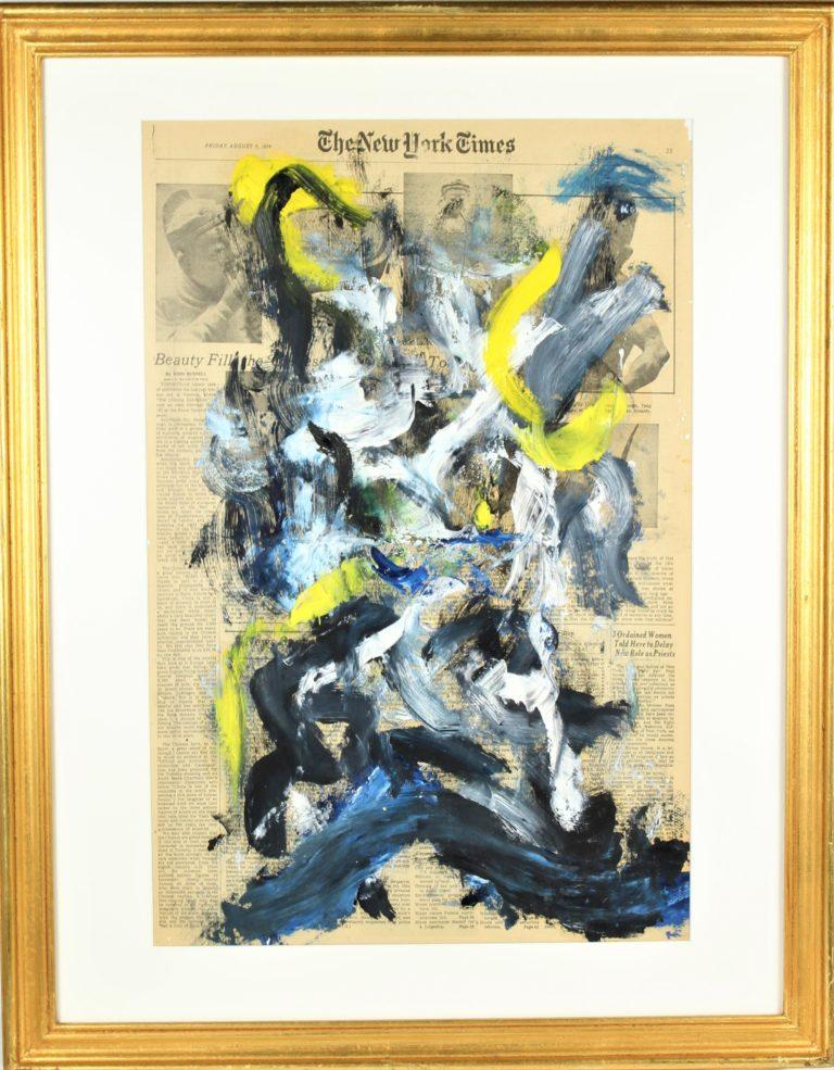 Willem de Kooning (1904 – 1997) Oil on New York Times Newsprint