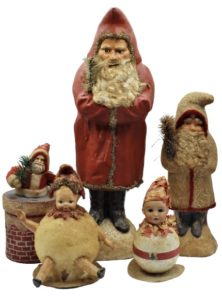 Antique Paper Mache Christmas Decorations