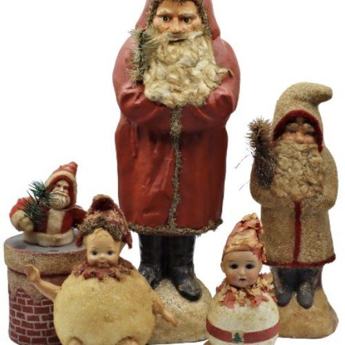 Antique Paper Mache Christmas Decorations