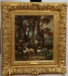 Charles Jacque (1813-1894) Troupeau, Paissant, Sous Bois