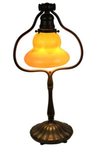Tiffany Favrile Glass & Bronze Lamp