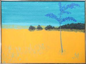 March Avery (B. 1932) Blue Tree Blue Sky