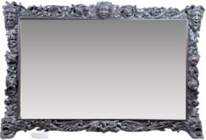 Superb 19th C European Carved Frame Beveled Mirror