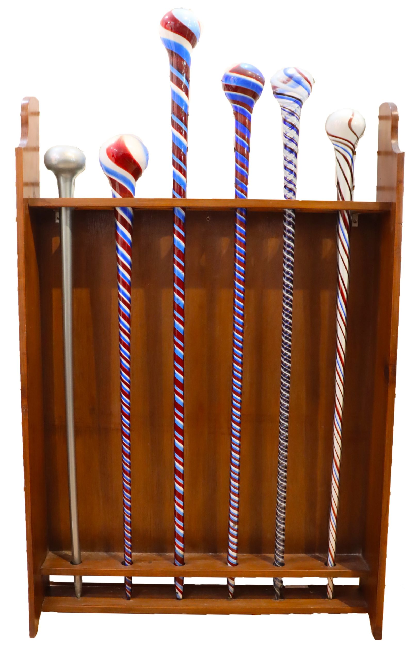Collection of Hand Blown Glass Canes