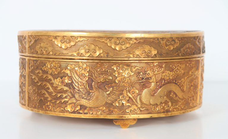 Read more about the article Ming Dynasty Gold Gilt Dragon Lidded Box