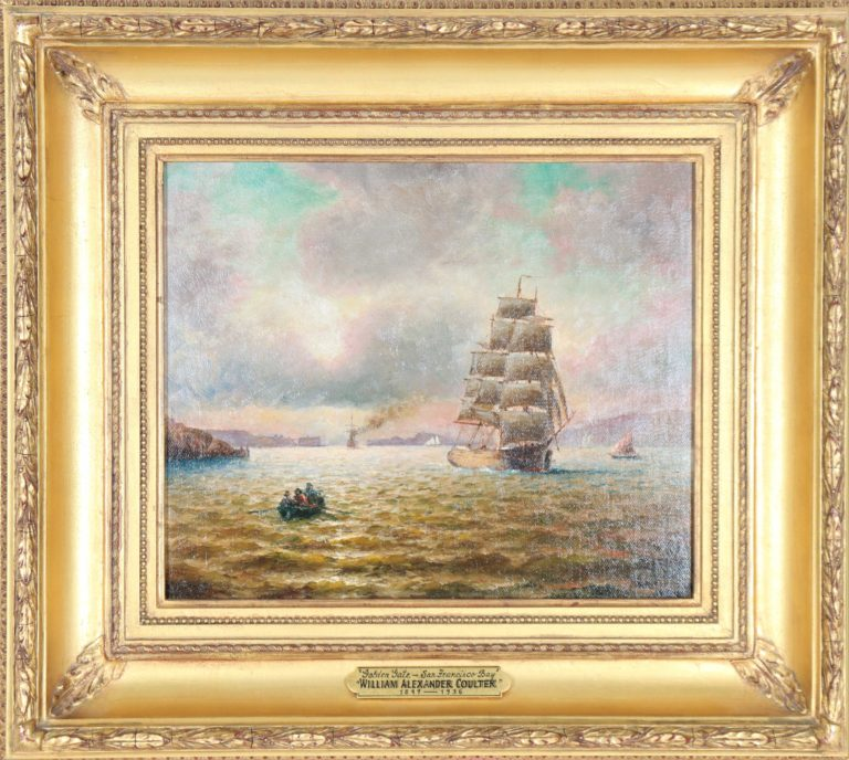 Willam Alexander Coulter (1849-1936) Golden Gate-San Francisco Bay
