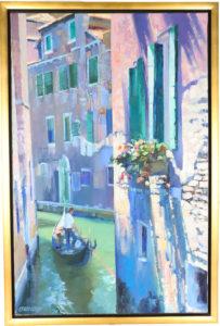 Howard Chesner Behrens (1933-2014) American Oil on Canvas _Window Box_